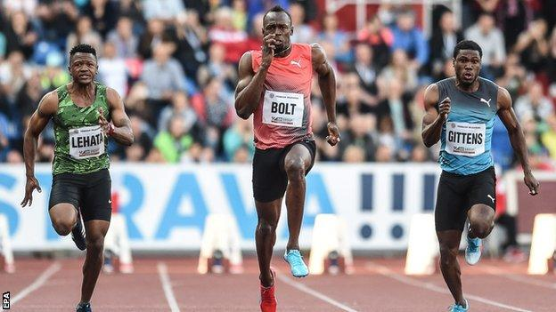 Usain Bolt makes records below 10 seconds to win in Ostrava