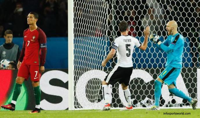 Cristiano Ronaldo Misses Penalty shot euro 2016