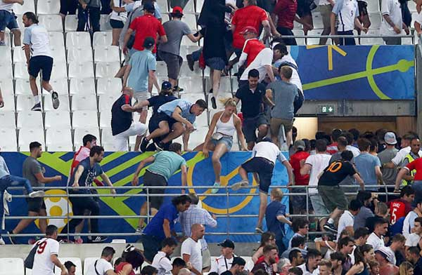 Euro 2016 Fights with Fans