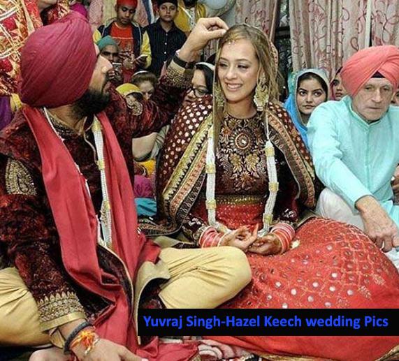 yuvraj-singh-and-actress-hazel-keech-during-their-wedding-function