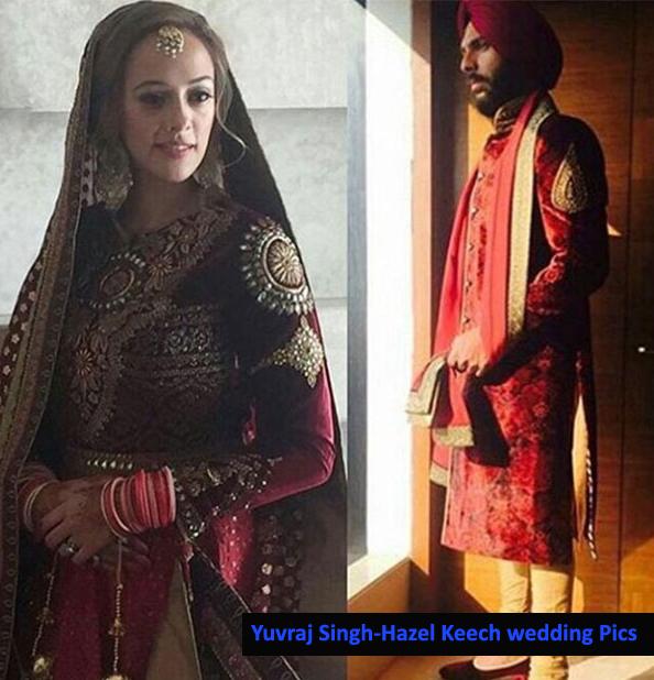 yuvraj-singh-and-actress-hazel-keech-pose-during-their-wedding-function