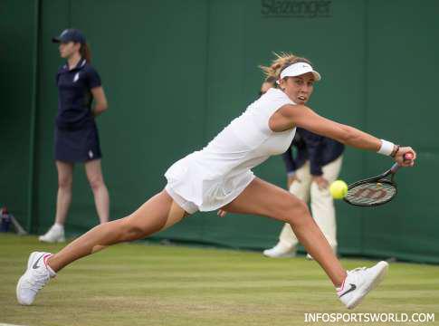 Wimbledon Tennis 2017 - Madison pushing match against Nao Hibino.