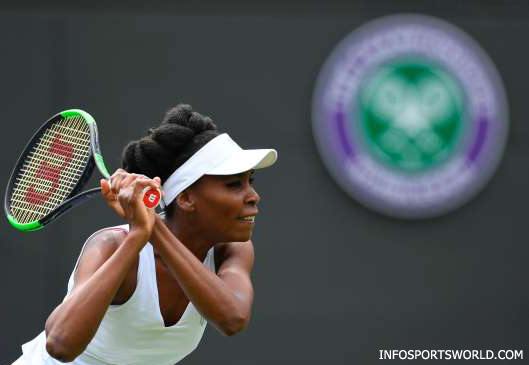 Wimbledon Tennis 2017 - Venus Williams vs Elise Mertens