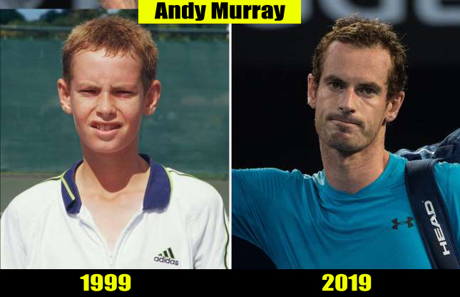 Andy Murray (1999, 2019)Then and now Transformation
