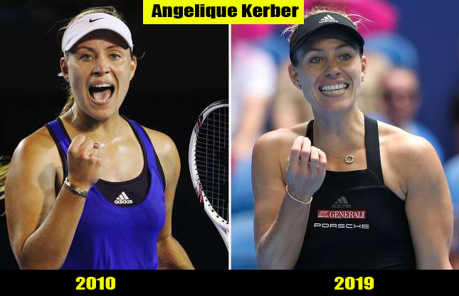 Angelique Kerber (2010, 2019) Then and now Transformation | Before and After