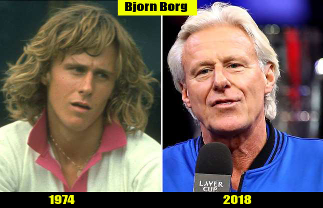 Bjorn Borg (1974, 2018) Then and now Transformation | Before and After