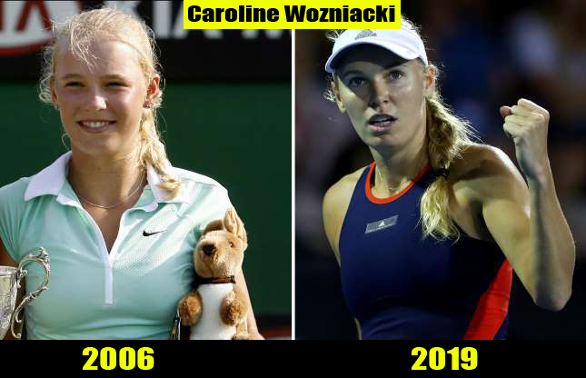 Caroline Wozniacki (2006, 2019) Then and now Transformation | Before and After