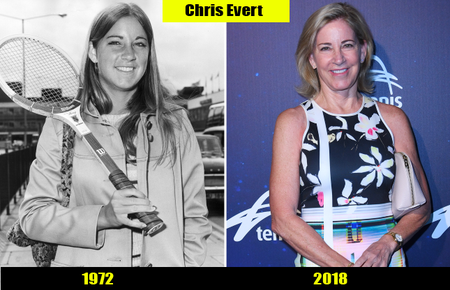 Chris Evert (1972, 2018) Then and now Transformation | Before and After