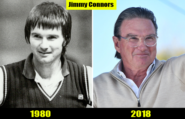 Jimmy Connors (1980, 2018) Then and now Transformation | Before and After