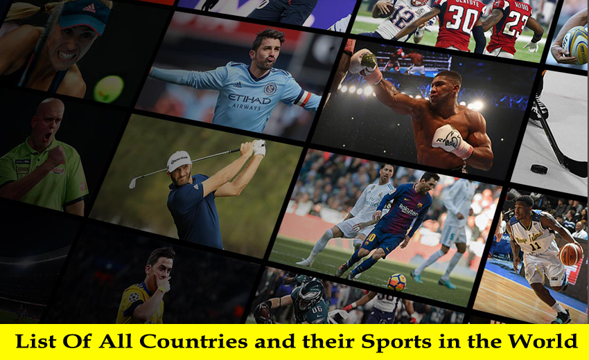 List Of All Countries and their Sports in the World