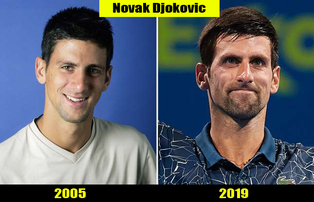 Novak Djokovic (2005, 2019) Then and now Transformation | Before and After
