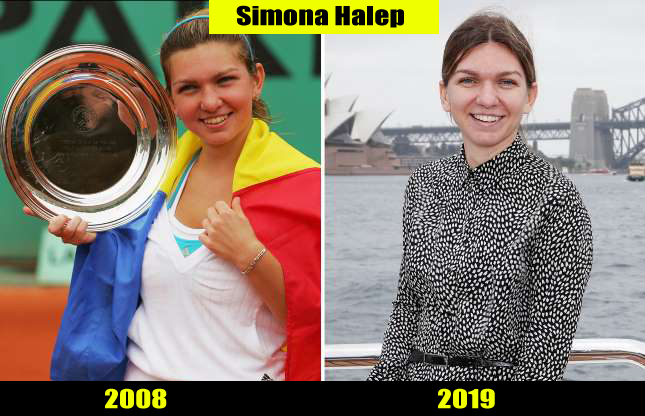 Simona Halep (2008, 2019) Then and now Transformation | Before and After