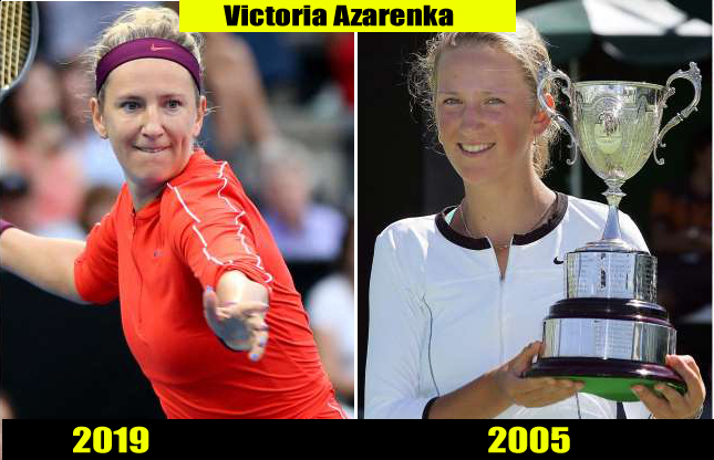 Victoria Azarenka (2019, 2005) Then and now Transformation | Before and After