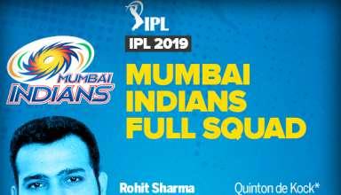 Mumbai Indians IPL 2019 Team Squad