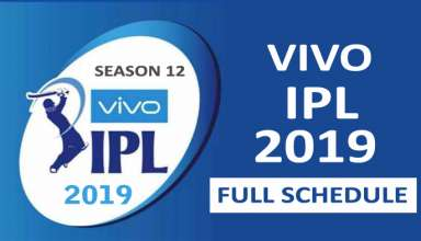 VIVO IPL 2019 Full Schedule
