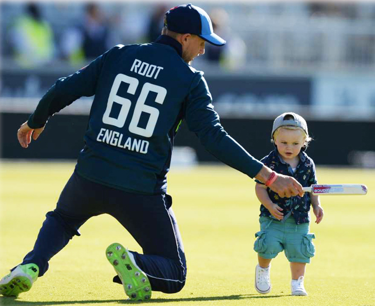Joe root - England Cricketer With son Alfred