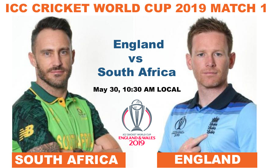 ICC World Cup 2019, England vs South Africa, Match 1 - England won by 104 runs