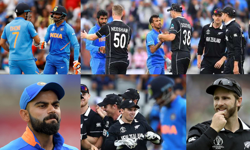 Highlights of the World Cup Semi-final match India Vs New Zealand at Manchester