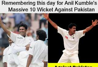 Remembering this day for Anil Kumble's Massive 10 Wicket Against Pakistan