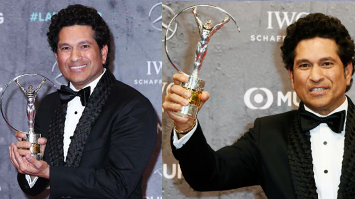 Cricket Legend Sachin Tendulkar Won the best Laureus Sporting Moment Award
