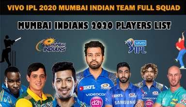 Mumbai Indians Full Team Squad IPL 2020 | MI Complete Players List in IPL 2020 Season 13