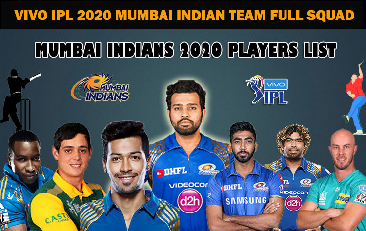 Mumbai Indians Full Team Squad IPL 2020 | MI Complete Players List in IPL 2020 Season 13