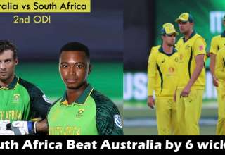 Australia vs South Africa 2nd ODI Match South Africa won by 6 wickets