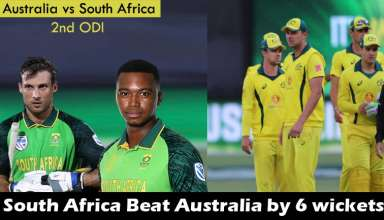 Australia vs South Africa 2nd ODI Match South Africa won by 6 wickets