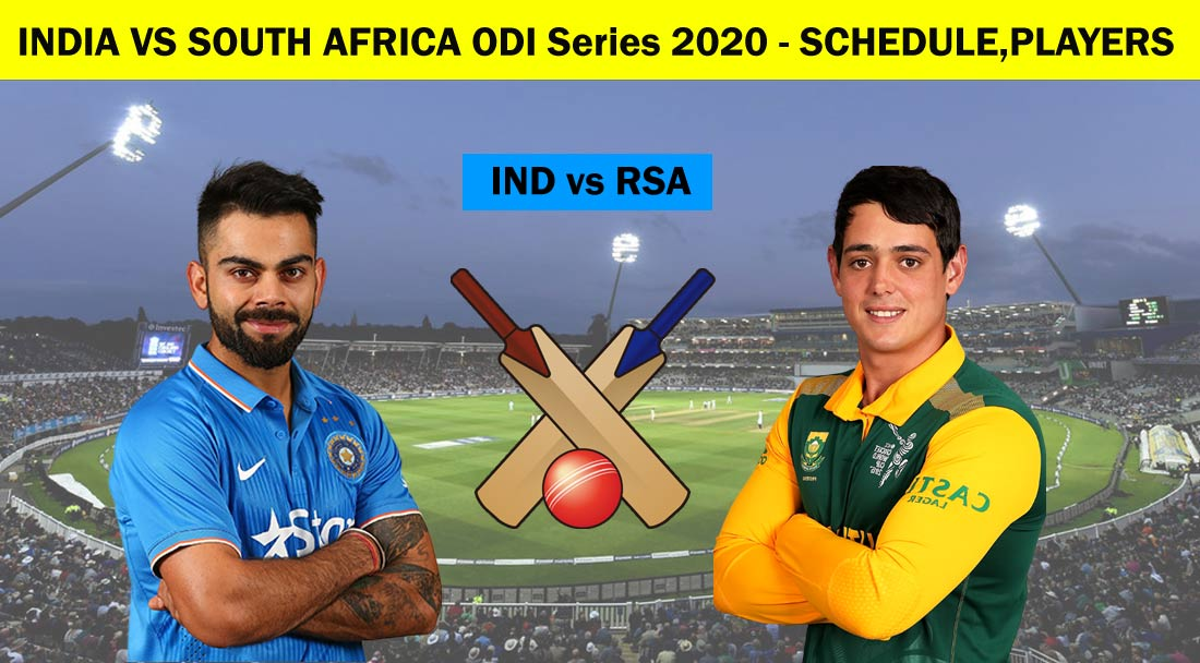 India vs South Africa ODI Series 2020: Full Schedule, Dates, Time Table, Players List, Live Streaming Details