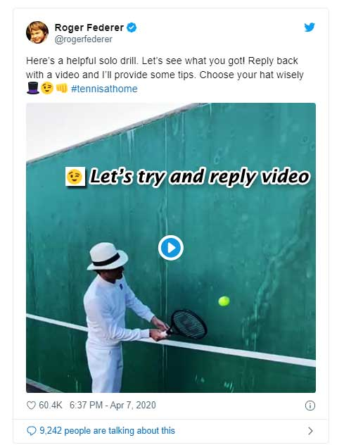 Do you Want Feedback From Roger Federer? Let's Tweet him With Your Volleying Video