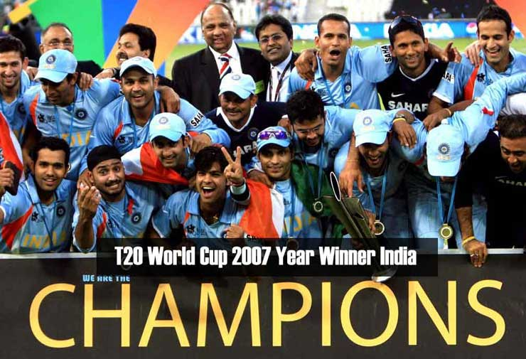 ICC-T20-World-Cup-2007-Year-Winner-India-Team