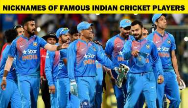 Nicknames of Famous Indian Cricket Players