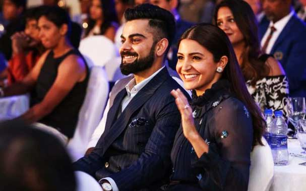 Virat Kohli With Wife Anushka Sharma in Outdoorn Function