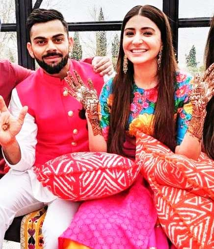 Virat Kohli With Wife Anushka Sharma in Wedding Photos
