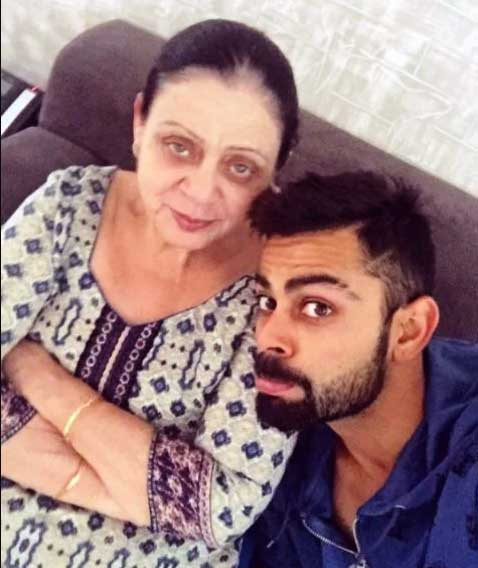 Virat Kohli With Mother Mrs.Saroj Kohli Photos