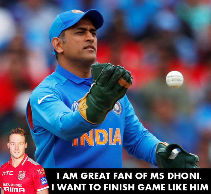 I am a great fan of Dhoni and I just want to finish games like him-David Miller