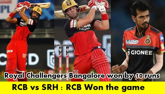 IPL 2020 RCB Vs SRH: Devdutt Padikkal's performance helps RCB to win