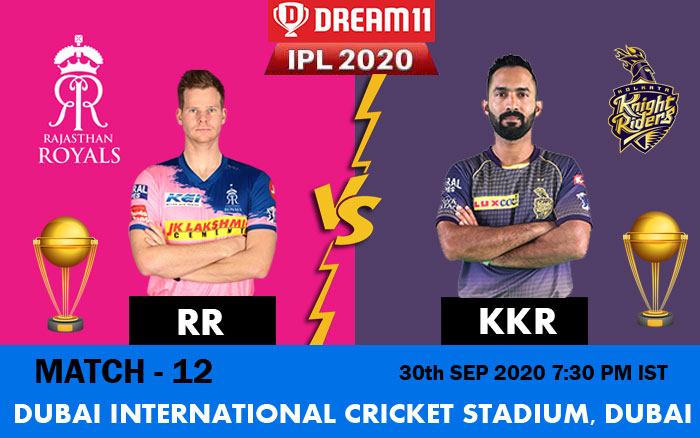 IPL 2020 : RR Vs KKR Match Preview, Predictions, Weather and Pitch Conditions