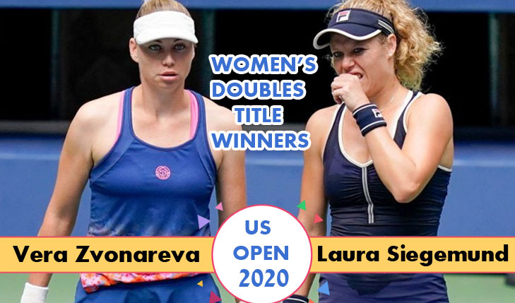 Laura and Vera are the Women's Doubles US Open 2020 Title Winners