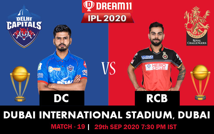 IPL 2020: RCB Vs DC match preview, predictions, weather pitch conditions and live streaming
