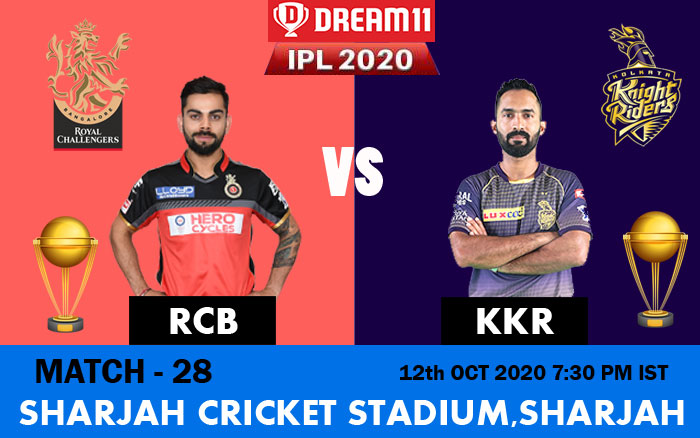 IPL 2020: RCB Vs KKR match preview, prediction, weather, pitch condition, and live streaming