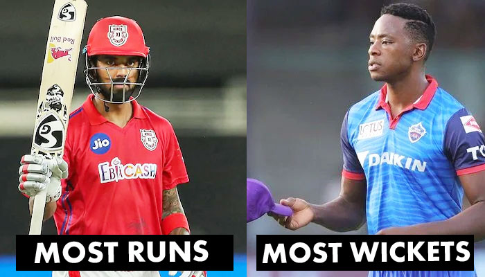 KL-Rahul-and-Rabada-continuously-holding-the-highest-run-scorer-and-wicket-taker-position