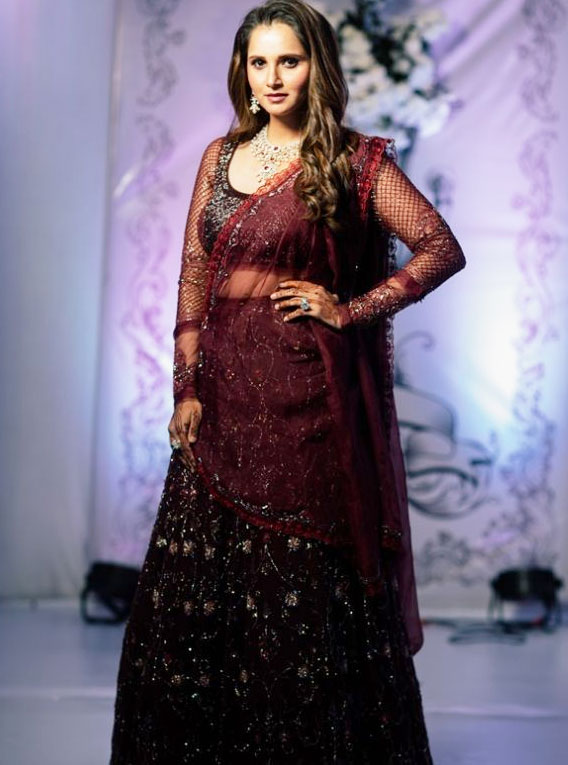 Sania Mirza's Colorful Dressing in Wedding Reception