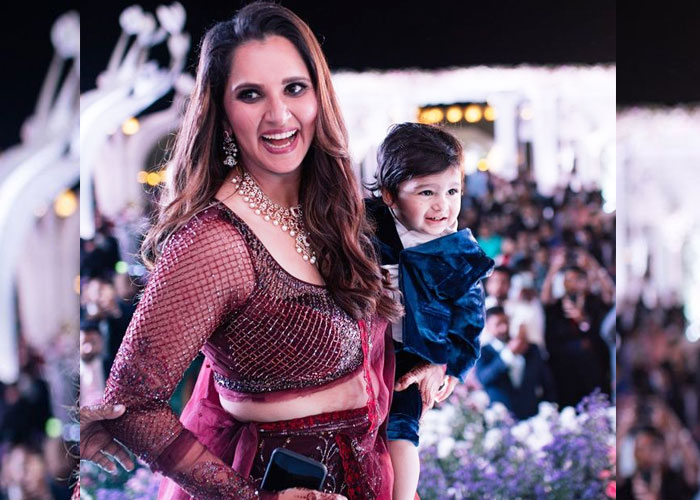 Sania Mirza with cute son Izhaan Mirza Malik