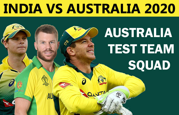 Australia Test Team Squad for Ind vs Aus Series