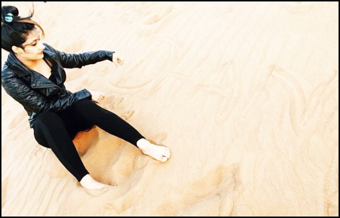 Dhanashree Verma Spending time in Dubai