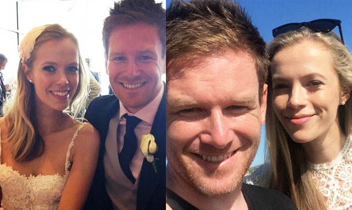 Eoin Morgan With Wife Tara Ridgway