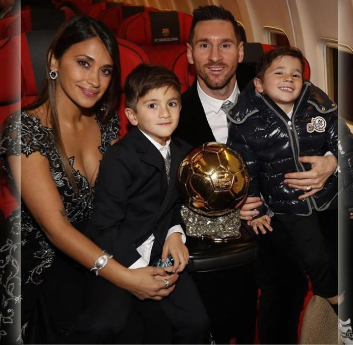 Leonel Messi's Jet Plane With family