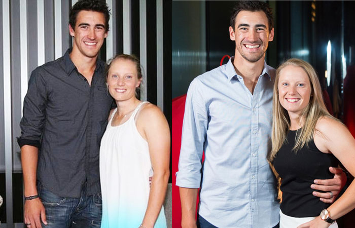 Mitchell Starc With Cute Wife Alyssa Healy Images