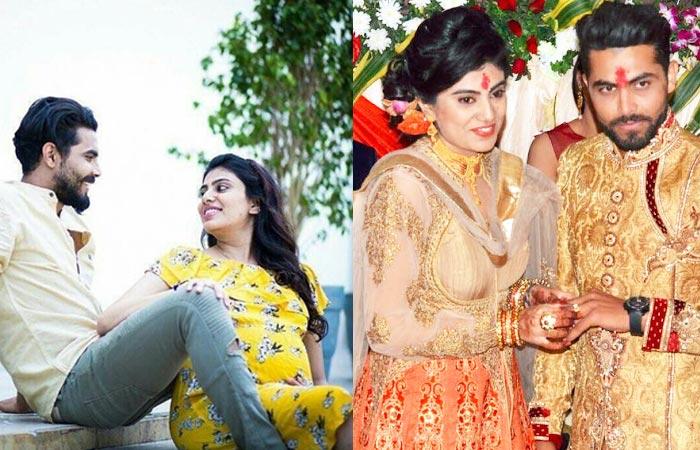 Ravindra Jadeja With Wife Riva Solanki